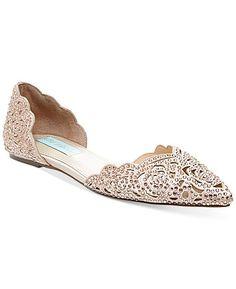 Blue by Betsey Johnson Lucy Embellished Flats - Evening & Bridal - Shoes - Macy's Pumps, Pump Shoes, Shoe Boots, Flat Shoes, Women's Shoes, Bride Shoes Flats, Platform Shoes, Stilettos, Dress Shoes
