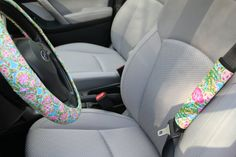 Who WOULDN'T love having new car accessories?   Even new car owners would love to have a set of personalized items for their car!  Monogrammed car accessories make thoughtful and unique Sweet Sixteen, Mother's Day, Father's Day, Christmas, Hanukkah, Valentine's Day, Anniversary, Graduation, and birthday gifts.  Or treat yourself to a new set for your own car!  __________________________________________________________________________  DETAILS:    The complete set comes with the following…