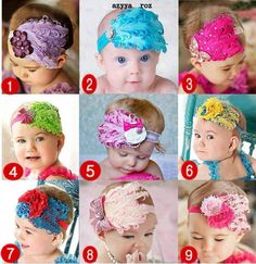 Baby DIY headbands