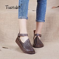 Cheap womens driving shoes, Buy Quality driving shoes directly from China genuine leather flats women Suppliers: Tastabo Ladies Shoes Handmade Shoe Genuine Leather Flats Women Driving Shoes Hollow Soft Genuine Moccasins 2017 Summer Shoes