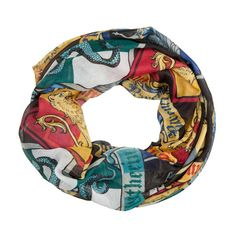 Harry Potter Harry Potter Crest Infinity Scarf ($12) ❤ liked on Polyvore featuring accessories, scarves, circle scarves, tube scarves, infinity scarf, round scarf and infinity scarves