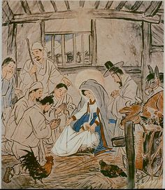 Korean Nativity, Woonbo Kim Ki-Chang