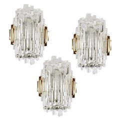 Brutalist Offerors Glass Sconces 1960's   From a unique collection of antique and modern wall lights and sconces at https://www.1stdibs.com/furniture/lighting/sconces-wall-lights/