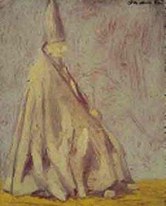 Collezione Zavattini, Giacomo Manzù, Il Vescovo, 1943, olio su cartone