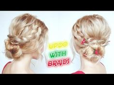 BACK TO SCHOOL HAIRSTYLE ROMANTIC UPDO WITH BRAIDS | Awesome Hairstyles