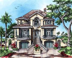 Elevated raised piling and stilt house plans coastal for How to build your own house in florida