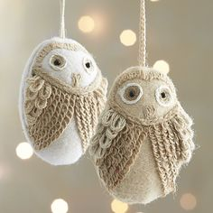 Inspiration: Loopy Owl Ornaments $8.95 (Crate and Barrel)