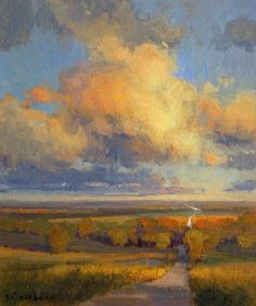 """Fall Unfolding Study"" Little Gem Auction for Crop Hunger Walk - Final Auction Adventures in Solitude #LandscapePaintings"