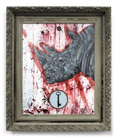 """""""Devoid""""  Original mixed media painting finished in oils.  21.5"""" X 25.5""""  www.anthonygranato.com"""