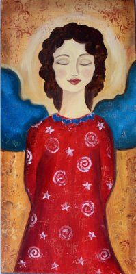 folk art angel...