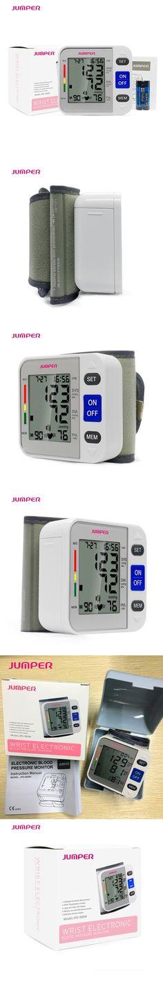 Jumper Health Care LCD digital wrist Blood Pressure Monitor/ meter, CE&FDA Tonometer Tensiometro Automatic Cuff Sphygmomanometer
