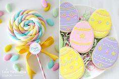 doces candy color para decorar a mesa na páscoa.