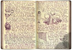 "Guillermo Del Toro's Diary : El Laberinto Del Fauno theseventhart: "" "" This film made me cry so hard. My Journal, Journal Notebook, Journal Pages, Artist Journal, Leather Bound Journal, Cool Journals, Art Journals, Commonplace Book, Journal Aesthetic"