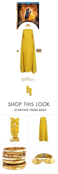 """""""~Disney's 'Beauty and the Beast'~"""" by amethyst0818 ❤ liked on Polyvore featuring Giuseppe Zanotti, Disney, Estevez, Ashley Pittman, Louis Vuitton and From St Xavier"""