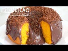BOLO VULCÃO DE LEITE NINHO LISTRADO COM GANACHE - YouTube