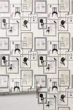 Discover unique wallpaper at Anthropologie, from printed wallpaper to floral wallpaper and more. Eclectic Wallpaper, Framed Wallpaper, Unique Wallpaper, Bedroom Wallpaper, Wallpaper Decor, Home Wall Decor, Designer Wallpaper, Wallpaper Designs, Textures Patterns