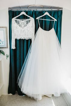 two piece wedding gown // gorgeous long sleeved with lace