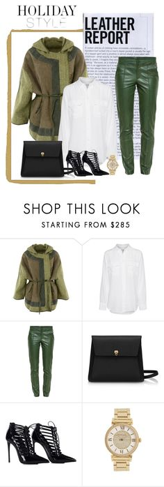 """""""Leather Pants"""" by m-jelic ❤ liked on Polyvore featuring Liven, Equipment, Gucci and Michael Kors"""