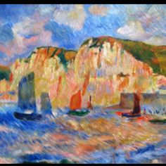 Sea and Cliffs - I love Renoir.  One of my favorite artists.  Old Master