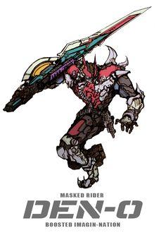 仮面ライダー電王-BOOSTED IMAGIN-NATION- Character Concept, Character Art, Concept Art, Character Design, Character Ideas, Kamen Rider Series, Fanart, Sci Fi Characters, Shadowrun