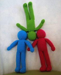 Crocheted dolls- good basic pattern to have