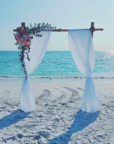 Bamboo Wedding Arch: Ritz at Lido Beach Sarasota Florida . By Scarlett's Flo… Bamboo Wedding Arch: Ritz at Lido Beach Sarasota Florida . Bamboo Wedding Arch, Wedding Arbors, Wedding Arch Flowers, Beach Wedding Reception, Beach Ceremony, Beach Wedding Decorations, Wedding Ceremony, Wedding Venues, Beach Weddings