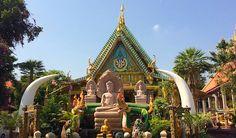 Bright Buddhist temple in Ubon Ratchathani