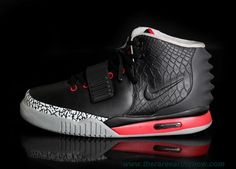 Cheap Men Shoes Nike Air Yeezy II Black Gray