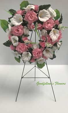 Shop for wreath on Etsy, the place to express your creativity through the buying and selling of handmade and vintage goods. Faux Flowers, Floral Arrangements, Floral Wreath, Wreaths, Creative, Pink, Handmade, Etsy, Vintage