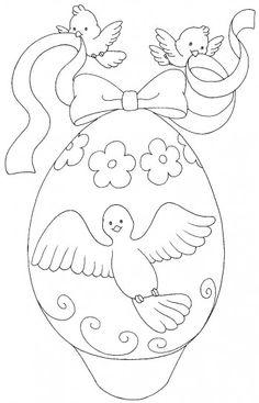 Disegni di Pasqua: le uova da stampare e colorare