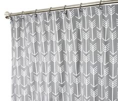 """Extra Long Shower Curtain Fabric Shower Curtains Bathroom Curtains Arrow Gray Shower Curtain 84"""""""