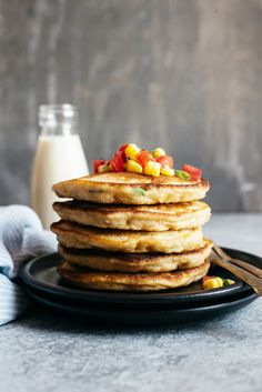 Corn pancakes, Pancakes and Pulled pork on Pinterest