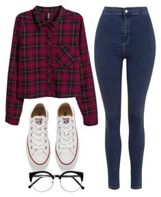 """Cool Style"" by maevaxstyle ❤ liked on Polyvore featuring H&M, Topshop and Converse"
