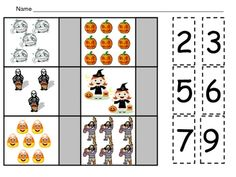 This file has four printable pages to allow your students to count sets from 0 to 10 and match them with the correct numeral.     The sets feature fun Halloween objects; students count the set; then they cut out the numbers on the right side of paper and glue the correct number next to each set.    These pages could be used for morning work, homework, or regular classwork. This activity would also make a great math center or math station.