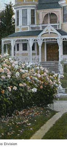 Rose garden with Victorian house in background, Portland, Oregon, 1909 Western Canada, Lewis And Clark, Victorian House, Portland Oregon, Alaska, United States, Holidays, City, Rose