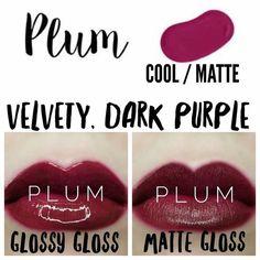 Plum Lipsense, Lipsense Lip Colors, Gloss Lipsense, Glossier Girl, Glossier Gloss, Shadow Sense, Facial Tips, Long Lasting Lip Color, Kissable Lips