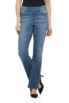 9e66d6b58a7 Rekucci Jeans Womens Ease In To Comfort Fit PullOn Stretch Bootcut Denim  Pants 10SHORTMD STONE SAND