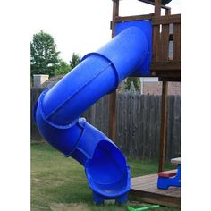 Super Tube Spiral Slide.  Can be mounted to 9' deck