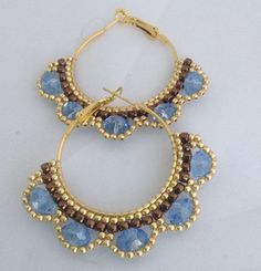 Resultado de imagen de brick stitch hoop earrings