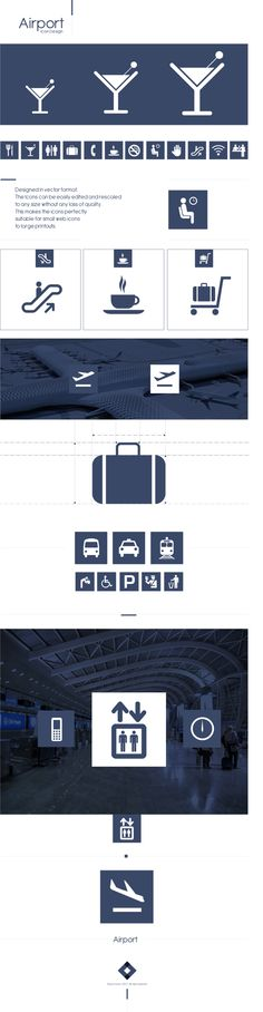 Airport Pictograms by Martín Liveratore, via Behance