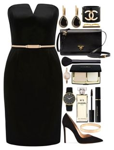 """Baker"" by tinasxx ❤ liked on Polyvore featuring Forever New, Prada, Gianvito Rossi, Anaconda, Chanel, Eddie Borgo, NARS Cosmetics, Sophie Bille Brahe, Elizabeth Arden and Chloé"