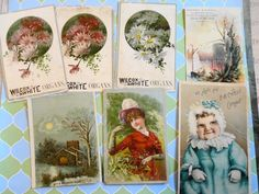 Wilcox White Organs Chase Victorian Trade Cards by PrettyPaper09