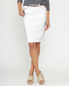 Five-Pocket Pencil Skirt - Garnet Hill ... Perfect spring work outfit!