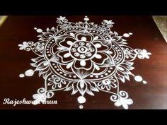 Sankranthi lotus rangoli designs with flowers * Pongal special kolam with dots * bhogi Muggulu Indian Rangoli Designs, Rangoli Designs Latest, Dulhan Mehndi Designs, Small Rangoli Design, Rangoli Designs Images, Rangoli Designs With Dots, Rangoli With Dots, Beautiful Rangoli Designs, Simple Rangoli