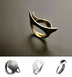 Anel de prata minimalista