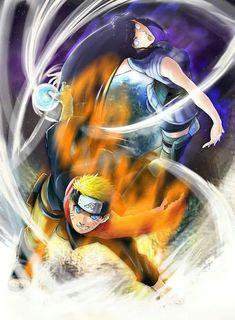 Naruto and Hinata Uzumaki Anime Naruto, Naruto Und Hinata, Naruto Art, Otaku Anime, Naruto Uzumaki Shippuden, Hinata Hyuga, Itachi Uchiha, Uzumaki Family, Naruto Family