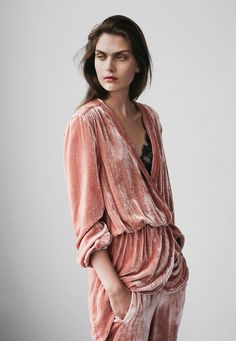 PINK VELVET – A pink velvet one piece is the perfect compaion for fall. It is…