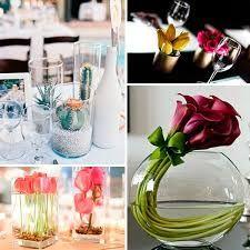 Resultado de imagen para Arreglos pequeños con copas para centros de mesa de mesas cocteleras