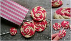 Miss Blueberrymuffin's kitchen: Lollipop-Cookies (pretty in PINK) Lollipop Cookies, Cake Cookies, Christmas Cookies, Cupcake Cakes, Pretty In Pink, A Little Party, Sweet Bakery, Snacks Für Party, Bake Sale
