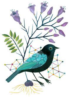 An amazing artist who paints birds! Geninne on Flikr. Art And Illustration, Illustrations, Watercolor Bird, Watercolor Paintings, Vogel Clipart, Bird Clipart, Vogel Quilt, Bird Quilt, Bird Drawings